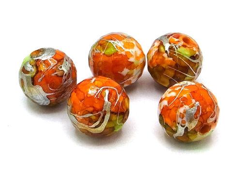 Ø 16 mm Perle orange; F12 facettiert Wunderschöne Fantasie