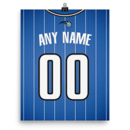 Personalized Name /& Number FREE US SHIPPING Orlando Magic Jersey Poster