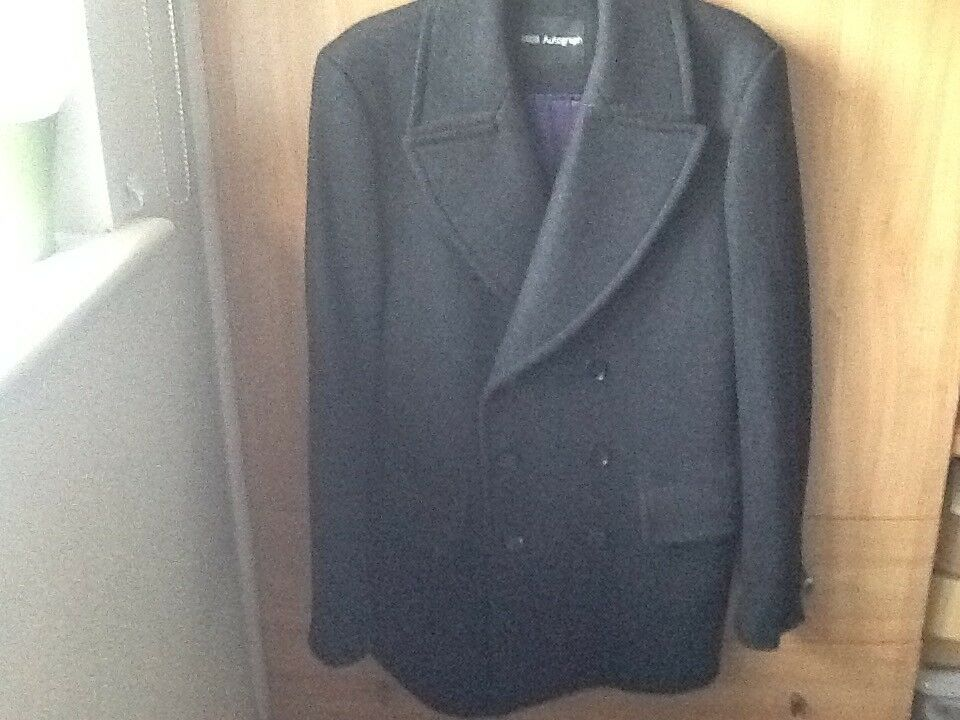 Herren Autograph Grau wool overcoat Größe M 38-40