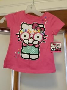 Sanrio Hello Kitty NWT Pink Happy Birthday T Shirt Girls Size Small