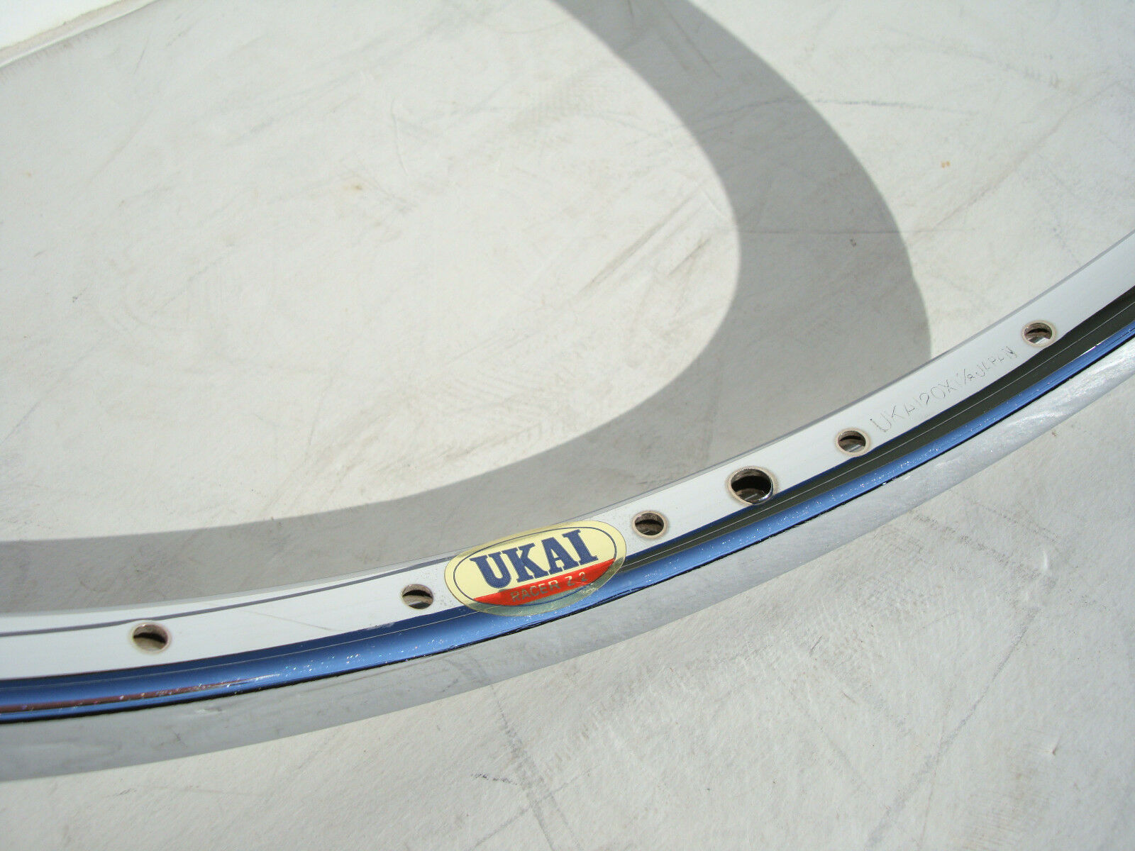 NOS UKAI Racer Z-2 BMX Bike 20 x 1 1 8  Mini Bicycle Rim Wheel Hoop Vtg Racing