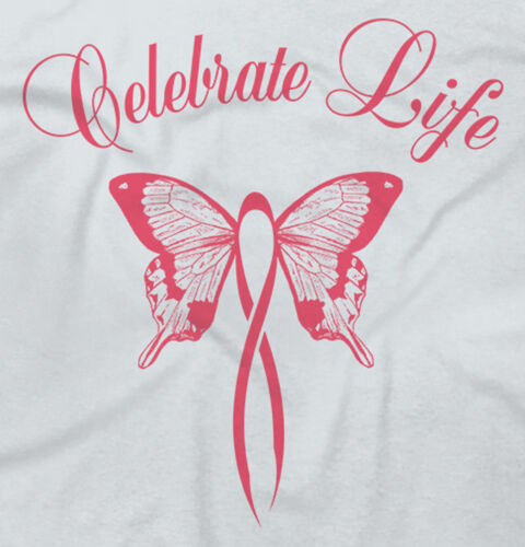 Breast Cancer Awareness ShirtCelebrate Life Pink Butterfly V-Neck T Shirt