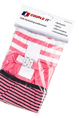 NEW Couple It Womens Size 18 - Side Fastening Underwear Mixed Colours Pk 3prs