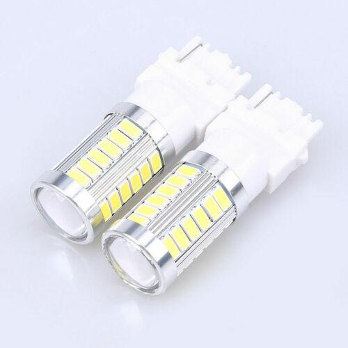 2pcs T25 3156 5730 33 SMD Car LED White Rear Tail Reverse Lamp Brake Fog Light