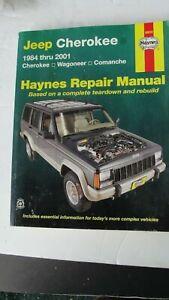JEEP Cherokee 1984-2001 Haynes Repair Manual + Wiring ...
