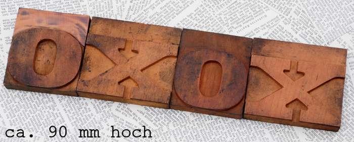 ♥ XOXO ♥ Holzbuchstaben Holzlettern Lettern Wort letterpress wood type Lettern
