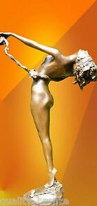 CURVACEOUS-ART-DECO-THE-VINE-SIGNED-BRONZE-STATUE-FIGURINE-FIGURE