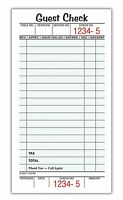 Adams Guest Check Pads, Single Part, 3-2/5 X 6-1/4 Inches, White, 50 Checks/pad, on sale