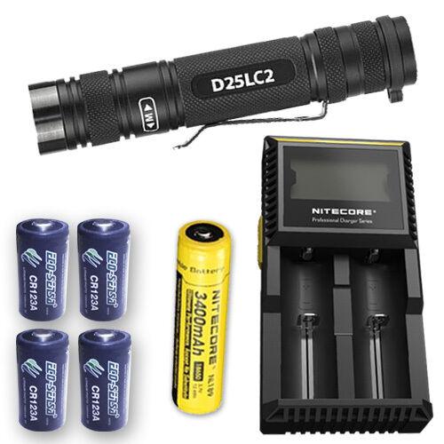 EagleTac D25LC2 Clicky XP-L Hi NW Cargador LED con D2, NL189 & 4x eco-SENSA CR123A