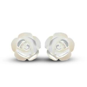 Fashion-Women-Solid-925-Sterling-Silver-Flower-Shape-Ear-Stud-Earrings-Jewelry