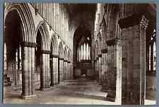 J.V., UK, Glasgow Cathedral. The Nave looking east   Vintage albumen print. Jame