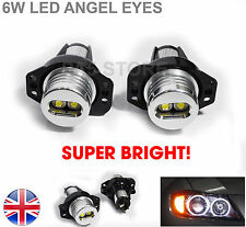2X 6W ANGEL EYES MARKER LED Bulbs SUPER BRIGHT White Halo BMW E90 E91 QUALITY UK