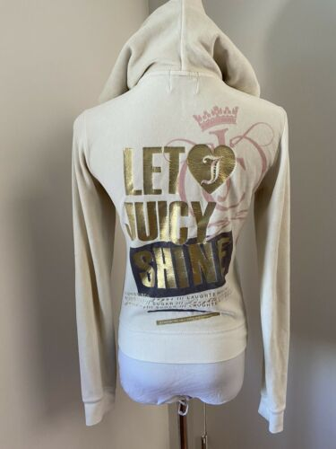Juicy Couture Cotton Velour Track Jacket Hoodie Le