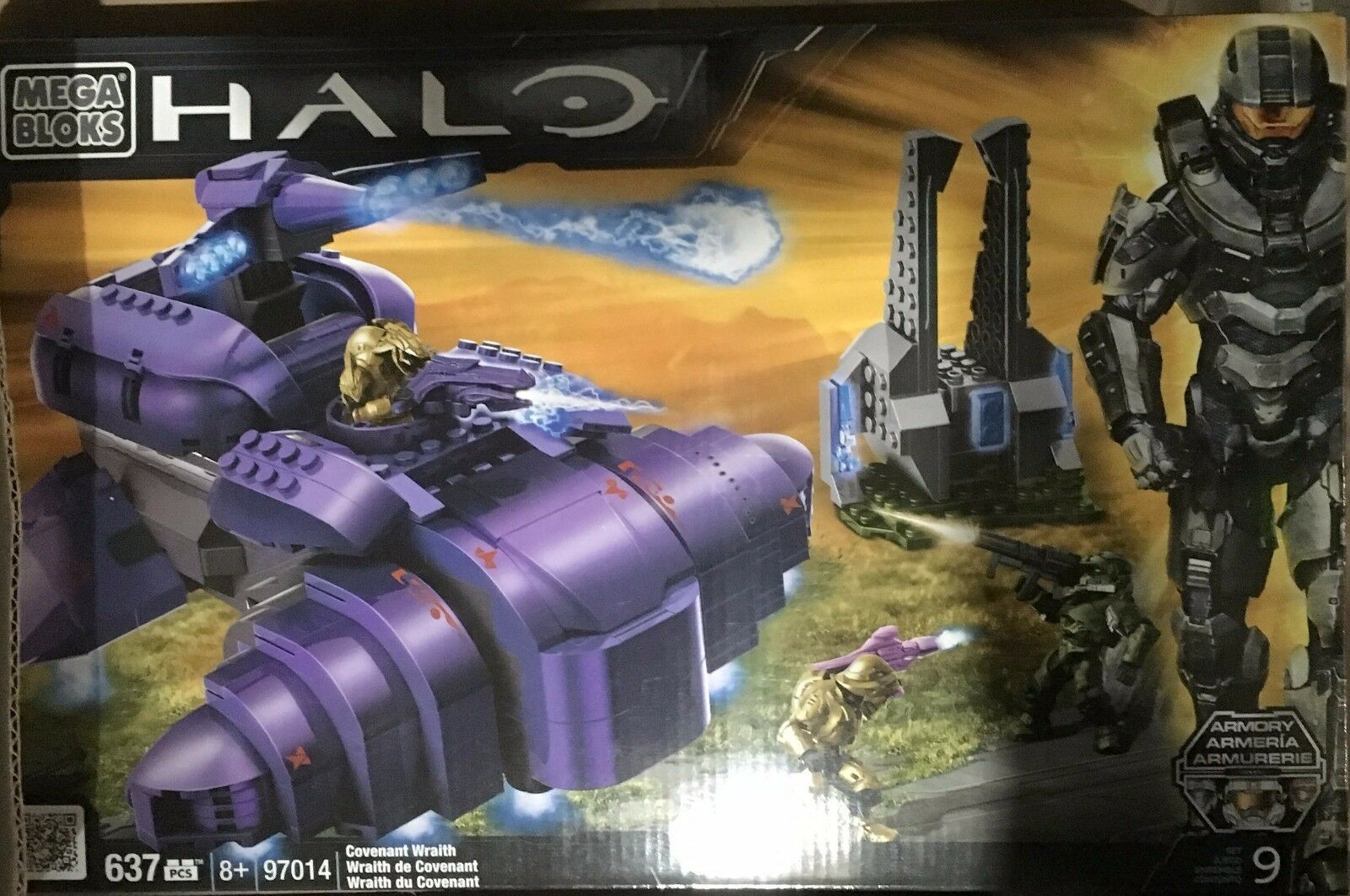 NEW Mega Bloks Halo Covenant Wraith Building Set 97014