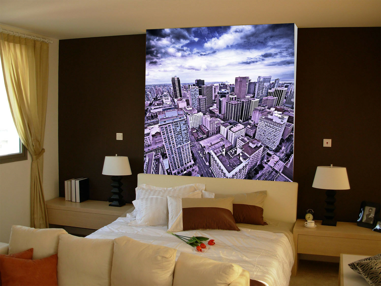3D lila City Sky 8 Wall Paper Murals Wall Print Wall Wallpaper Mural AU  Kyra