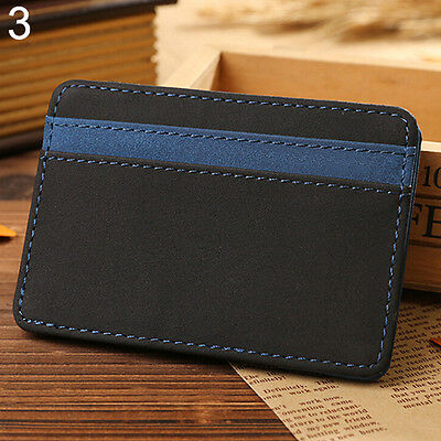Mens Super Grail Faux Leather Magic Credit Card Id Money Clip Slim Wallet Holder