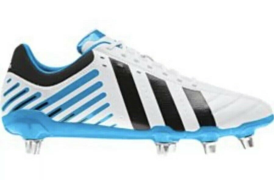 New Adidas Regulate Kakari SG Soccer Rugby Cleats Mean shoes 16 Wide White Black