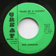 Hear! Rockabilly 45 Bob Johnson - Tears Of A Clown / A Day Late And A Dollar Sho