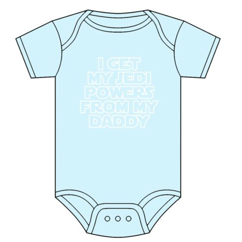 STAR WARS BABYGROW VEST JEDI POWERS FROM MY DADDY ASST COLOURS 0-18 MONTHS NEW