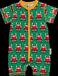 Maxomorra rompersuit button SS jugador mamelucos pijamas baby Viking