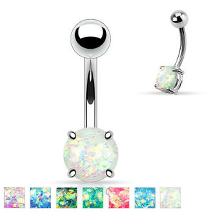 Synthetic-Opal-Glitter-Prong-Set-Surgical-Steel-Navel-Belly-Button-Ring-14g-3-8-034