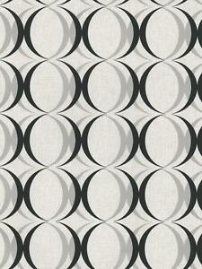 Wallpaper-Retro-Modern-Silver-and-Black-Ogee-Circles-on-White-amp-Pearl-Off-White