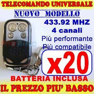 TELECOMANDO-MHZ-UNIVERSALE-433-CANCELLO-20-GARAGE-PER-CAME-FADINI-uc