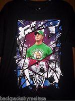Wwe John Cena Black Shirt Boy's 14/16 Wrestling Rey Mysterio Orton Sheamus