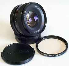 Carl Zeiss Planar T*50mm 1:1.7 C/Y Mount, Contax Caps, Contax UV Filter, Exc:+