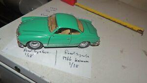 Road-Signature-1966-Volkswagen-Karmann-Ghia-1-18-Scale-Diecast-Metal-VW-Car
