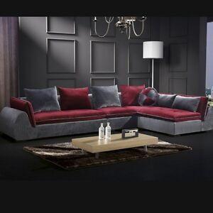 Dettagli su Divano soggiorno 360 cm arredamento design moderno sette  cuscini sfoderabile|02