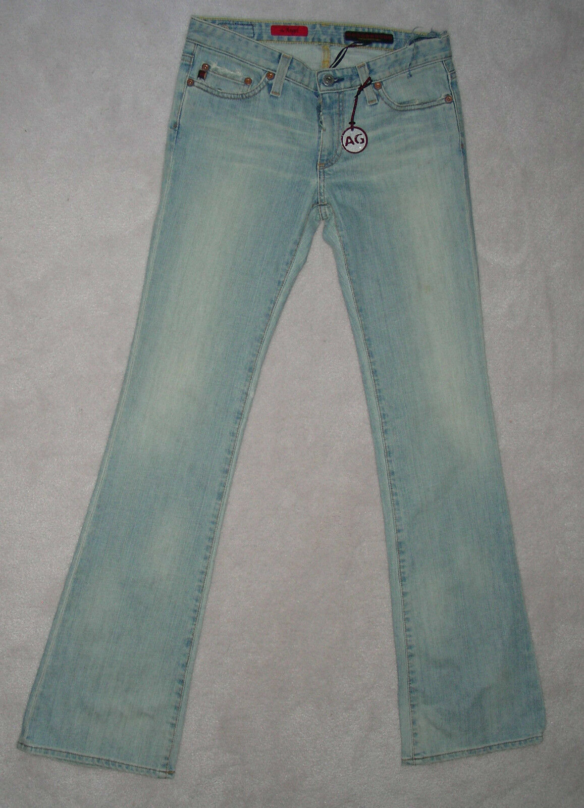 NWT Womens AG ADRIANO goldSCHMIED bluee DISTRESSED DENIM JEANS Low 27 26 25 Leg32