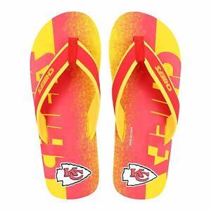 FOCO-NFL-Men-039-s-Kansas-City-Chiefs-Contour-Fade-Wordmark-Thong-Sandals