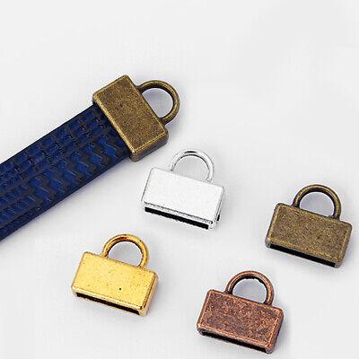 10PCS Antique Silver//Bronze//Copper//Gold End Caps Clasp for Flat Leather