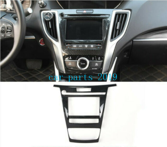 Carbon Fiber Console GPS Navigation Switch Panel Cover For