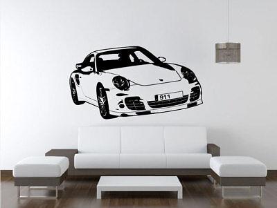 Wandtattoos Wandbilder Wall Art Decal Sticker Burgundy Outline Shown Porsche 911 Carrea Car Mobel Wohnen