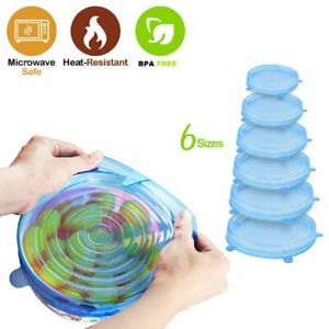 Silicone Food Lid,12 Pcs Stretch Reusable Lids Expandable Silicone Stor V8L5 1X
