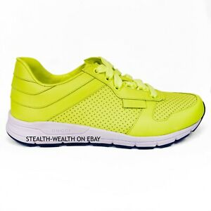 00f706f64 Gucci Men's Neon Yellow Leather Running Tennis Trainer Sneakers ...