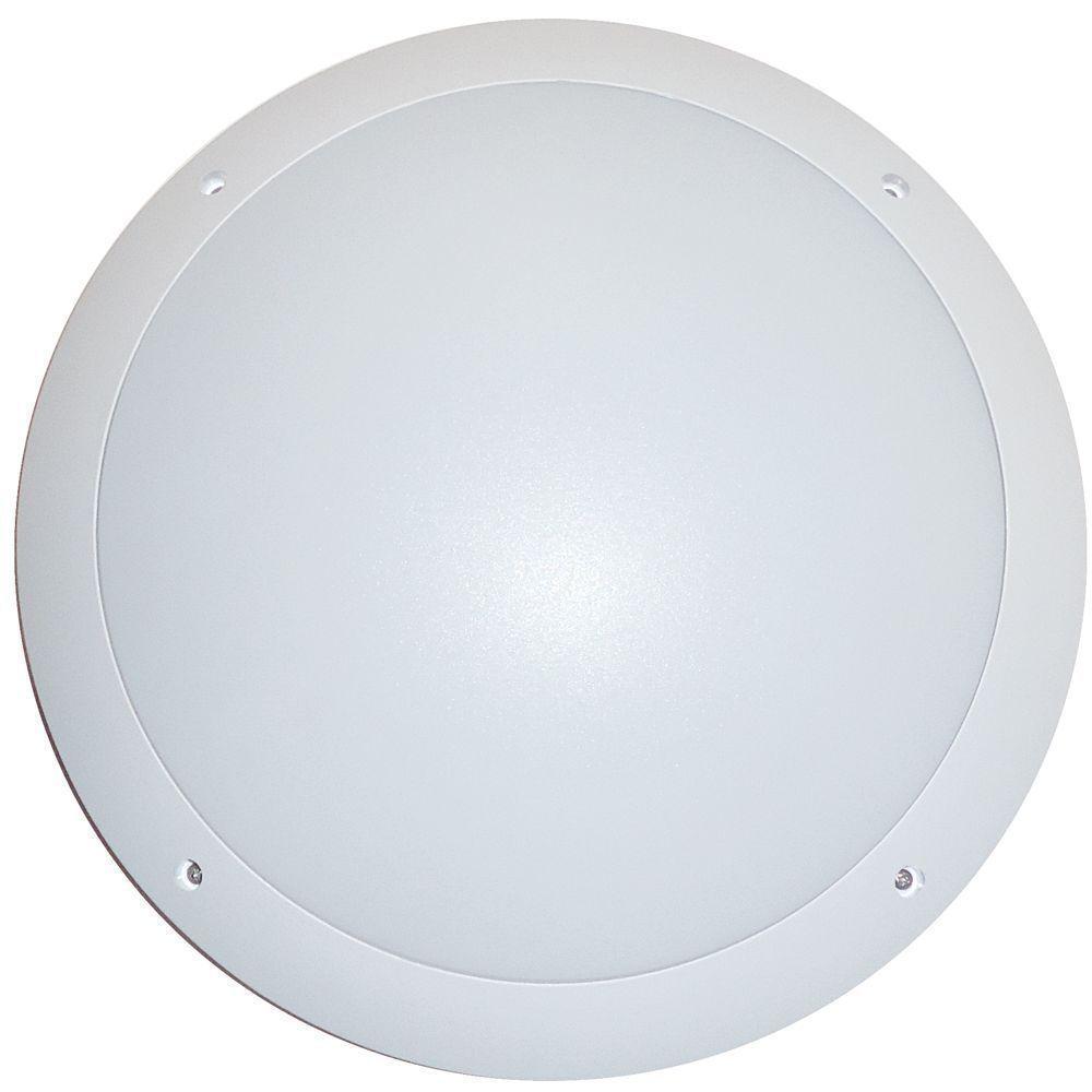 12w LED Bulkhead ceiling Light Fitting White Base IP66 ...