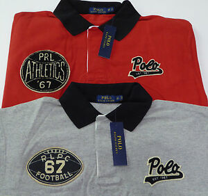 30cb5ea1 Polo Ralph Lauren SS Mesh Rugby Shirt $125 Basketball Football ...