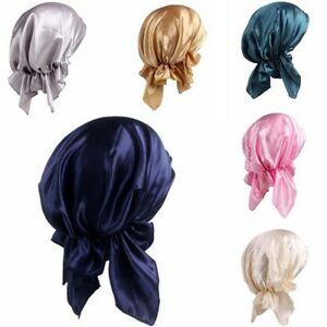 Soft-Women-Silk-Night-Sleep-Cap-Long-Hair-Care-Bonnet-Headwrap-Satin-Hat