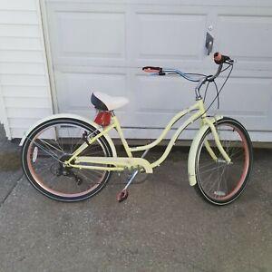 Schwinn Women's Kalei Cruiser 26″ Wheel Bicycle White, Small Frame Size