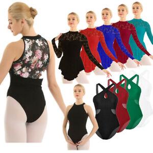 Women-Gymnastics-Contemporary-Ballet-Skirt-Leotard-Tutu-Dress-Dance-Wear-Costume