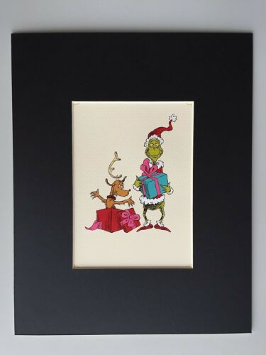 GRINCH /& MAX~8 X 10 Mat Print~WHOVILLE GIFTS~Is Max the Gift MR Ta Da~NEW