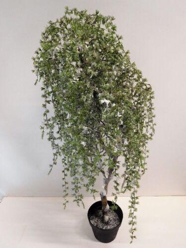 Zeder Dekobaum Dekopflanze Kunstpflanze  Schnee beschneit 100 cm 1116510-00 F30