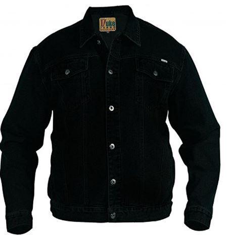 Men/'s Duke Western Style Trucker Big Tall Size Denim Jacket Size S-6XL
