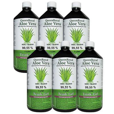 QueenRoyal Aloe Vera Trink Gel 99.55 % pur, IASC - Qualität, 6 Liter Sparpack