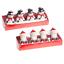 4 Weihnachtsmann Neuheit Designs Weihnachten 8 Packung Teelichter Kerzen