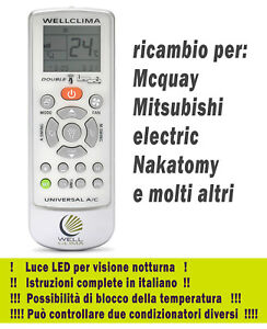 Details About Remote Control Conditioner Mcquay Mitsubishi Electric Nakatomy Air Conditioning Show Original Title