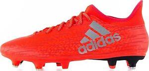 Détails sur Hommes Adidas x 16.3 SG Rouge Argent sol mou modifiable Clous Chaussures De Football afficher le titre d'origine
